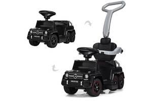 Деткий электромобиль каталка Мерседес М 3853 черный Гелик