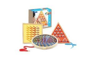 Детская деревянная игровая шнуровка Guidecraft Manipulatives Большие фигуры