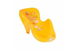 Детская горка для купания Tega Folkанатомическая и нескользящая, желтый. Полезные подарки малышам