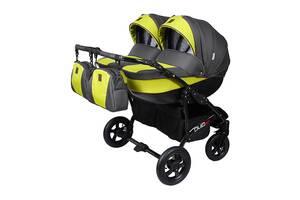 Детская коляска для двойни 2 в 1 Angelina Viper Duo Smart салатовая 10
