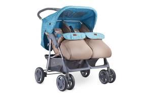 Детская коляска для двойни Lorelli Twin Сине-бежевый