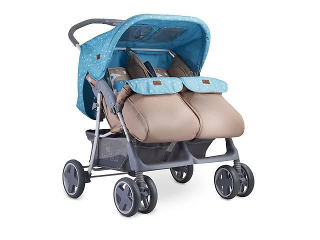 Детская коляска для двойни Lorelli Twin Сине-бежевый- объявление о продаже  в Одессе