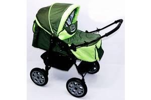 Детская коляска Viki Karina 86- C 50 Хакки с салатовым