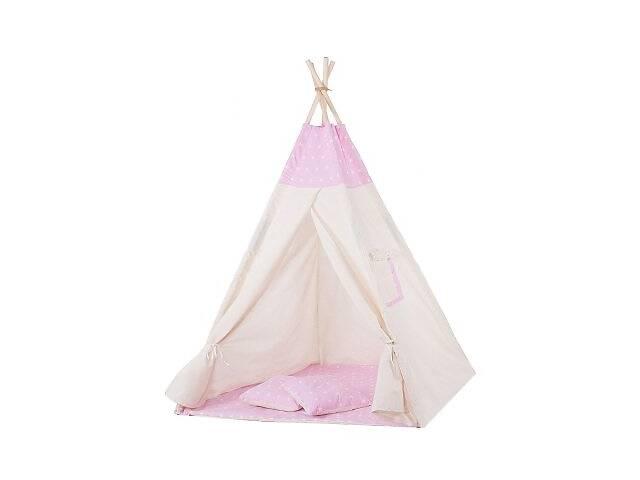 купить бу Детская палатка вигвам Springos Tipi Xxl White/Pink SKL41-277687 в Киеве