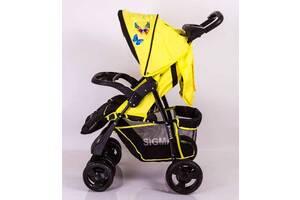Детская прогулочная коляска книжка Sigma S-K-6F Yellow