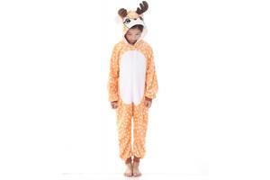 Детская пижама кигуруми Олененок 130 см