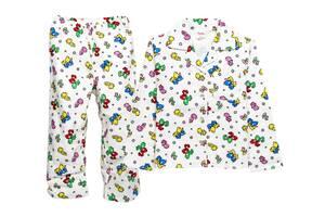 Детская теплая пижама из хлопка Luna Style  98