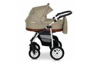 Детская универсальная коляска 2 в 1 Verdi Laser 12 с регулируемой спинкой для детей 0-3 лет, бежевая