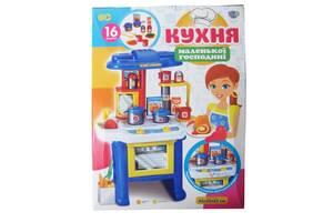 Детская игровая кухня Limo Toy Маленькая хозяйка, с посудой и продуктами, свет, звук. Подарок девочке