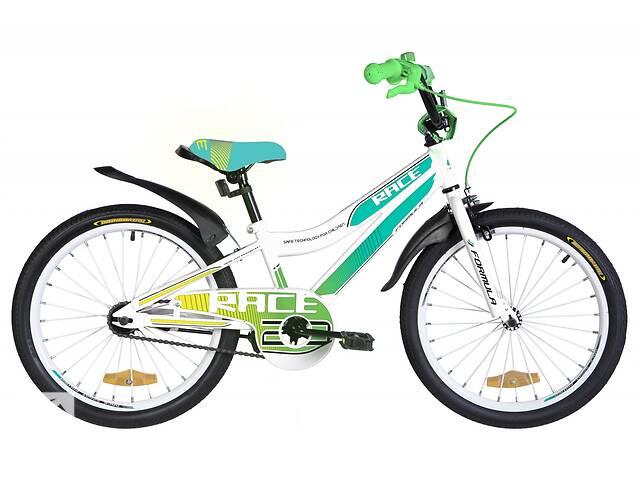 """Велосипед 20"""" Formula RACE 2020 (бело-голубой с зеленым)- объявление о продаже  в Киеве"""