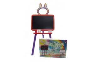 Детский мольбертмагнитный 2в1 для рисования 130 см Doloni Toys, красный