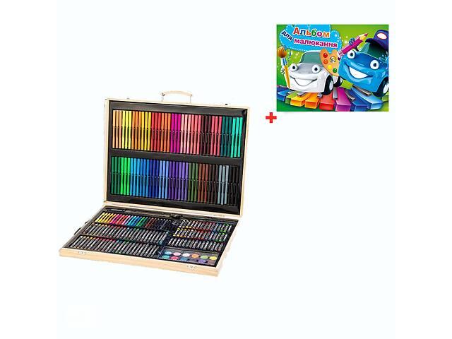 купить бу Детский набор художника в деревянном чемоданчике OEM 251 предметов + подарок (NR000004) в Киеве