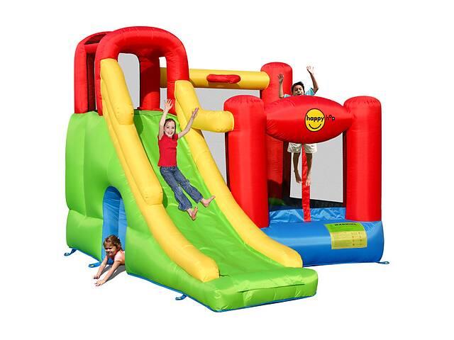 купить бу Дитячий надувний ігровий центр батут Happy Hop 6 в 1 з насосом (bat_9060) в Києві