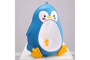 """Детский тренировочный писсуар-горшок PottyFrog для мальчиков в виде """"Пингвина"""" Синий (PF-05)"""
