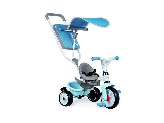 купить бу Детский велосипед Smoby с козырьком, багажником и сумкой Голубой (741400) в Харькове