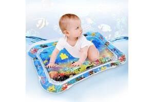 Детский водный развивающий надувной коврик.