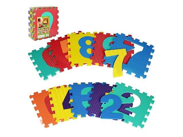 бу Детскийигровой коврик-мозаика Metr+Цифры, 10 деталей, разноцветные. Подарок для маленьких детей в Киеве