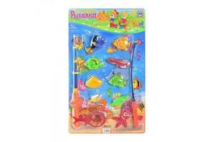 """Детский игровой набор для ванной магнитный """"Рыбалка"""" Metr+, 12 предметов"""