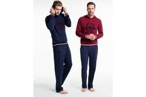 Домашняя одежда U.S. Polo Assn - Пижама мужская (длин.рукав) 17140 синяя, S