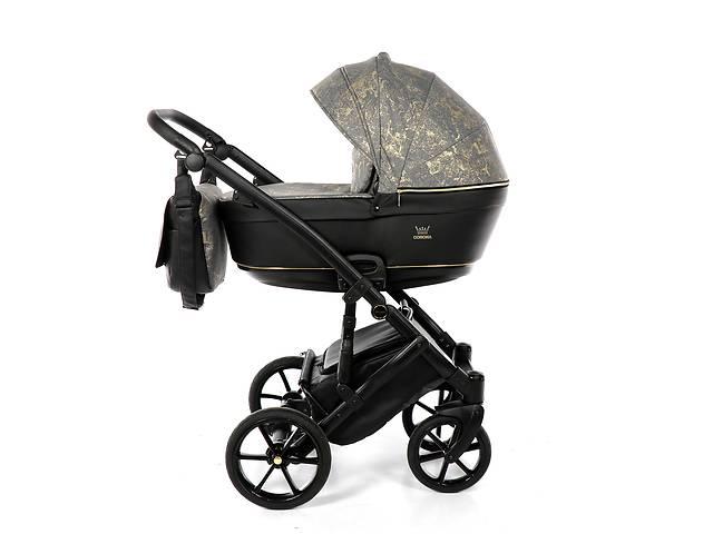 Дитяча коляска 2 в 1 Tako Corona Angabowana 02 чорна з золотим
