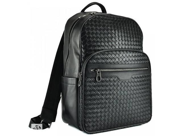 купить бу Городской рюкзак Tiding Bag B3-8601A, чёрный из натуральной кожи на 16 л. в Киеве