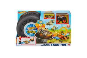 Hot Wheels Трюки в шине серии Monster Trucks Игровой набор от 4 лет (GVK48)