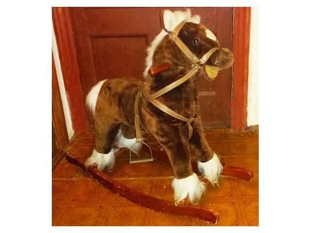 купить бу Качалка гойдалка Моя лошадка Jolly Ride коричневый/белый, б/у в Киеве