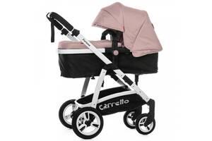 Коляска универсальная CARRELLO Fortuna CRL-9001/1 Coral Pink 2в1 c матрасом +дождевик