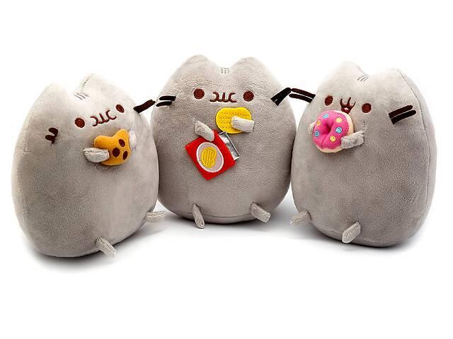 купить бу Комплект Мягких игрушек коты Pusheen cat из трех штук (vol-755) в Киеве