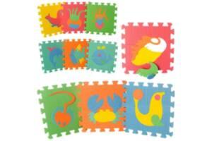Коврик-мозаика массажные M 0388 Веселая головоломка морские животные разноцветные