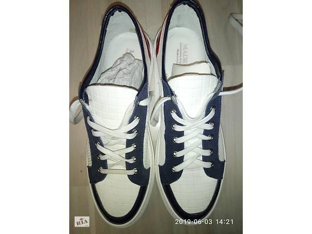 купить бу Кожаные туфли - мокасины,  оригинал Италия,  42 р в Запорожье