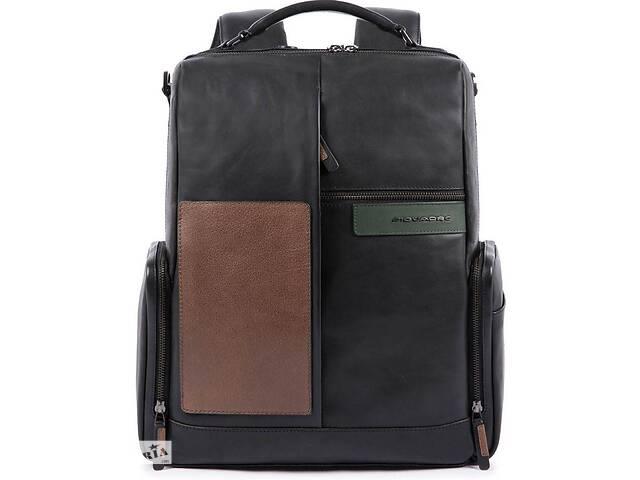 Кожаный городской рюкзак Piquadro Vanguard черный 22 л