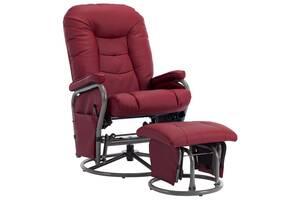 Крісло масажне з підставкою vidaXL 249929 еко-шкіра в кольорах