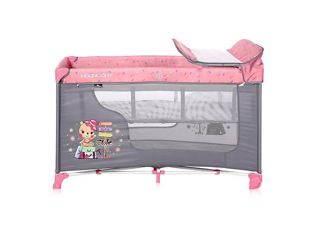 Кровать-манеж Lorelli Moonlight 2 Layers Розовый- объявление о продаже  в Одессе