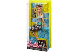 Кукла Барби Шатенка Двигайся как я Оригинал Barbie Mattel (FTG82)