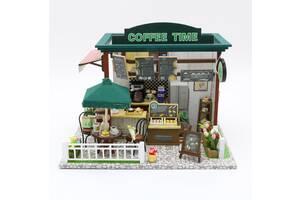 Кукольный домик 3D Румбокс CuteBee DIY Doll HouseCoffee Time (V356SD)