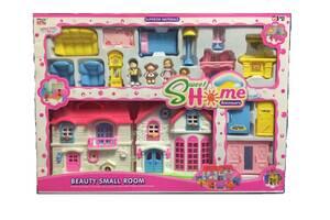 Кукольный домик (мебель, фигурки)