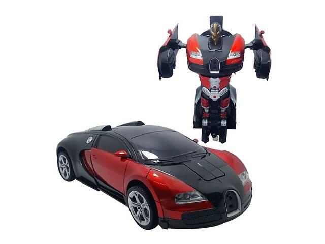 продам Машинка трансформер Bugatti Robot Car Size 1:18 - Красная бу в Киеве
