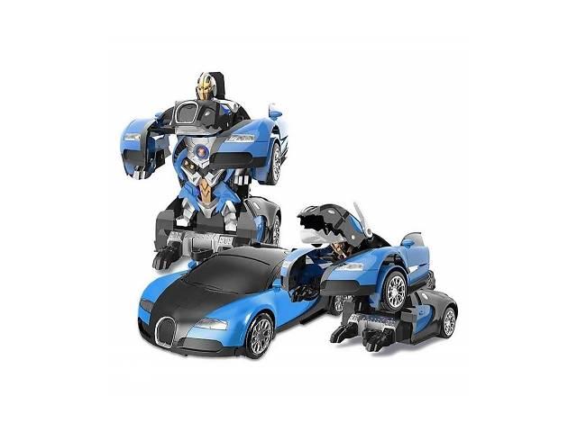 Машинка Трансформер Bugatti Robot Car Size 118 Синяя SKL11-279519- объявление о продаже  в Одессе