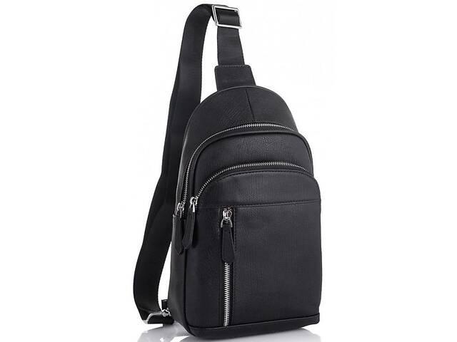 Мужской кожаный рюкзак на одно плечо Tiding Bag 5 л, черный- объявление о продаже  в Киеве