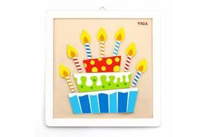 """Набор для детского творчества Viga Toys """"Своими руками: Торт"""", разноцветный"""