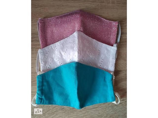 бу Набор для школы: 3 защитные маски для девочки 6-12 лет в Кременчуге