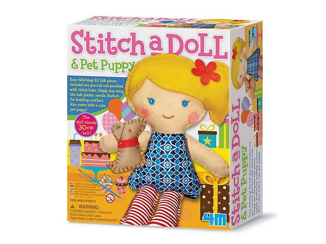 купить бу Набор для творчества 4M Шитье Кукла со щенком (00-02767) в Киеве