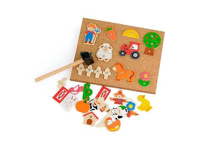 продам Набор для творчества Viga Toys Деревянная аппликация Ферма (51606) бу в Киеве