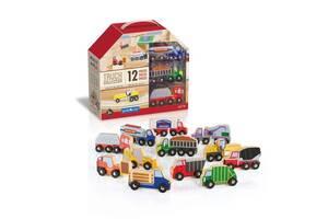 Набор грузовиков Guidecraft Block Play к Дороге из дерева, 12 шт. (G6718)