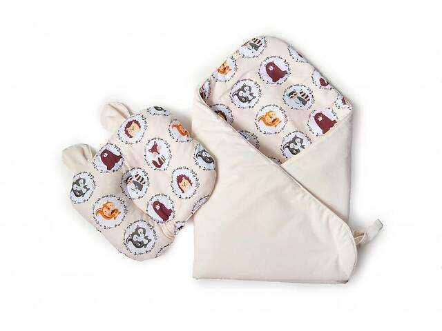 купить бу Набор конверт-плед с ортопедической подушкой Twins Bear, 100х100 см., бежевый в Києві