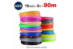 Набор пластика ABS для 3D ручек 90 метров (18 цветов по 5 метров)