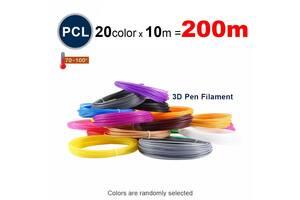 Набор пластика PCL для 3D ручек 200 метров (20 цветов по 10 метров)
