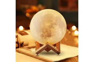 Нічник світильник місяць Moon Light 3D 15 см
