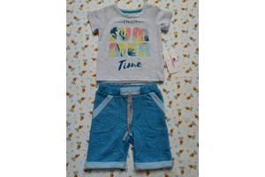 Новый комплект / набор Фламинго (футболка / шорты) на мальчика на годик